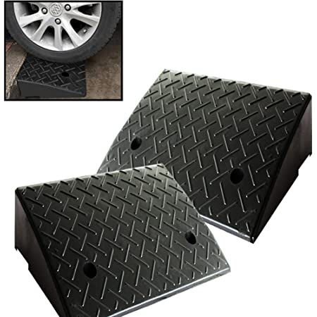 Loading Docks Black Garages Size : 50cm50cm13cm Wheelchair Ramps Durable Multi-Purpose Ramp for Cars Kerb Ramps,Heavy Rubber Road Ramp