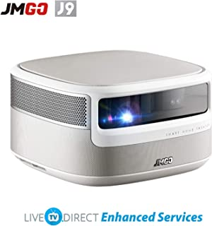 CACACOL Updated JmGO J9 DLP 3D Android Smart TV Home Projector | Native 1080p HD | 2000 ANSI Lumens | Hi-Fi Stereo Speaker | MEMC HDR10/HLG Decoding