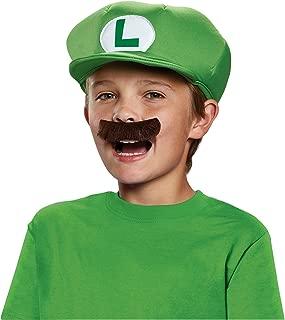 Kids Luigi Hat and Mustache Set