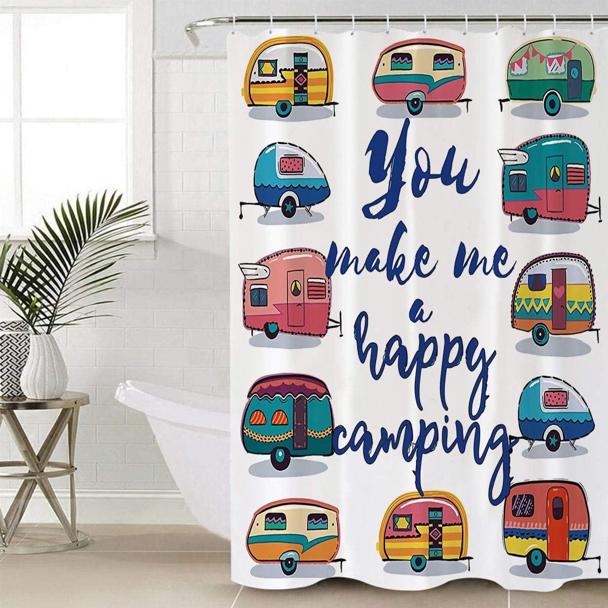 Luxury Bathroom Shower Denver Mall Curtain Set Cart Kids Happy Cute List price Camping
