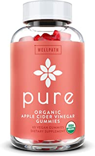 Pure Apple Cider Vinegar Gummies - U.S.D.A. Organic Certified A.C.V. Gummies - No Artificial Sweeteners - with Raw, Organi...