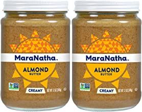 MaraNatha All Natural No-Stir Creamy Almond Butter, 12 Ounce (2 Pack) (Packaging May Vary)