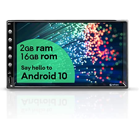 Double Din Android Car Stereo - Corehan 7 inch Touch Screen in Dash Car Radio Video Multimedia Player with Bluetooth WiFi GPS Navigation System (Android 10 with 7 inch Screen)