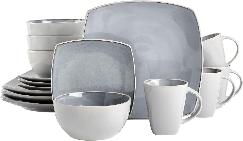 Gibson Elite Soho Lounge A surprise price is realized Reactive Popular brand Set Glaze Stoneware Dinnerware