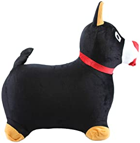 Chromo Bouncy Hopping Toy Cute Pony Inflatable Jumper w// Washable Plush Cover