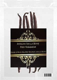 Madagascar Vanilla Bean Single Grade A Prime Gourmet Bourbon Vanilla Beans (35 Beans)