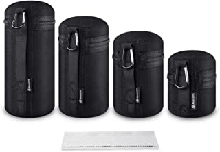 Camera Lens Case Lens Case Cover Sleeve Travel Carry Protective Lens Pouch Set to Protect Your Camera Equipment lorelo 5 Pieces Lens Pouch Bag