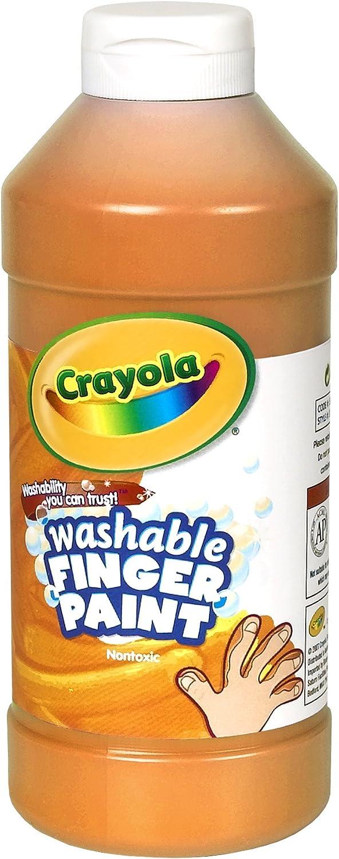Crayola Award-winning store Fingerpaint Orange 32 Ounces Washable Latest item Paint Age Kids