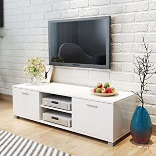 Tidyard Mesa para TV Diseño Moderno Aparador para TV Mueble TV Salón Mesa Televisión Mueble Comedor Televisor Bajo con 2 R...