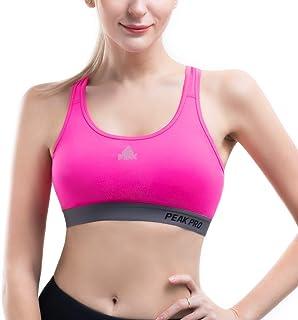 PEAK Women's Racerback Sports Bras, Workout Bras for Running, Yoga, Gym, Fitness