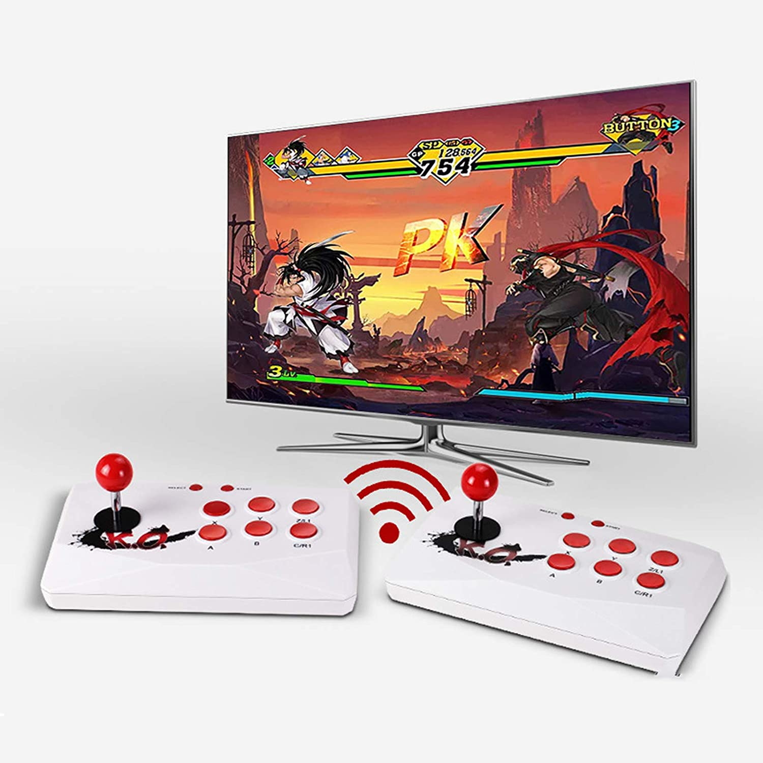 1788 High order Games 2.4G Wireless Arcade Video TF Card free Ext Console Game