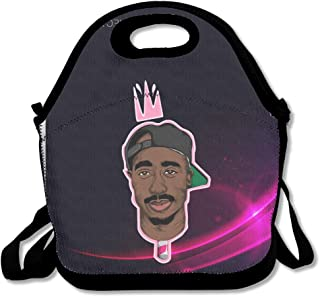 HJZN SUGER Tupac Shakur 2Pac Tote Bag Multifunction Waterproof Handbag Lunch Tote