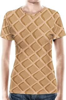 Rainbow Rules Icecream Waffle Cone Women Cotton Blend T-Shirt