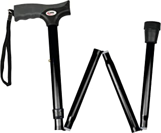 Carex Soft Grip Folding Cane - Foldable Walking Cane For Men and Women - Adjustable Height (33