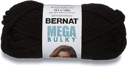 Bernat Mega Bulky Yarn, 10.5 oz, Gauge 7 Jumbo, 100% Acrylic, Black