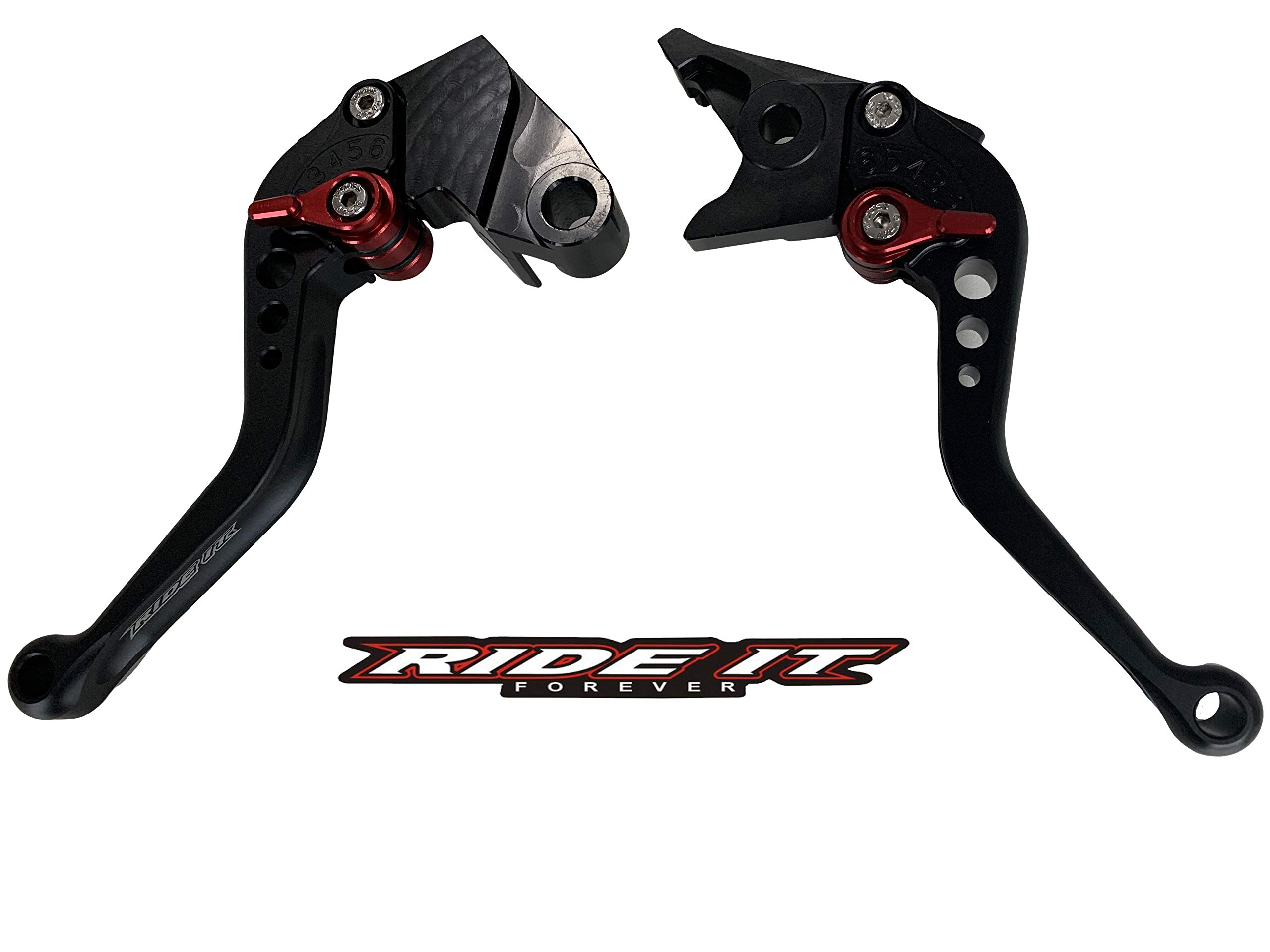 Short Brake and Clutch Levers for KAWASAKI ZX6R 636 2000-2004,Z1000 2003-2006,Versys1000 12-14,ZX9R 2000-2003,ZX10R 2004-2005,ZX12R 2000-2005,ZZR 600 2005-2009,ZX12R 2002-2005