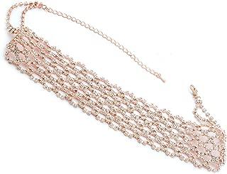 Topwholesalejewel Fashion Jewelry Set Rose Gold Plating Choker Necklace