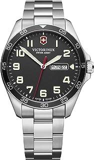 Victorinox - Field Watch Reloj para Hombre Analógico de Cuarzo con Brazalete de Acero Inoxidable V241849
