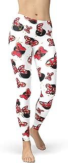 Rainbow Rules Minnie Bows and Mouse Ears Disney Inspired Winter Leggings - Fleece, Full Length, Mid/High Waist