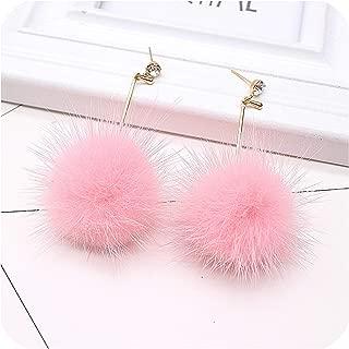 faux fur hoop earrings