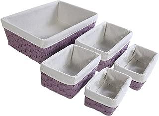 purple wicker basket