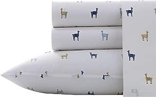 Poppy & Fritz Llamas Sheet Set, Twin XL, Pastel Blue
