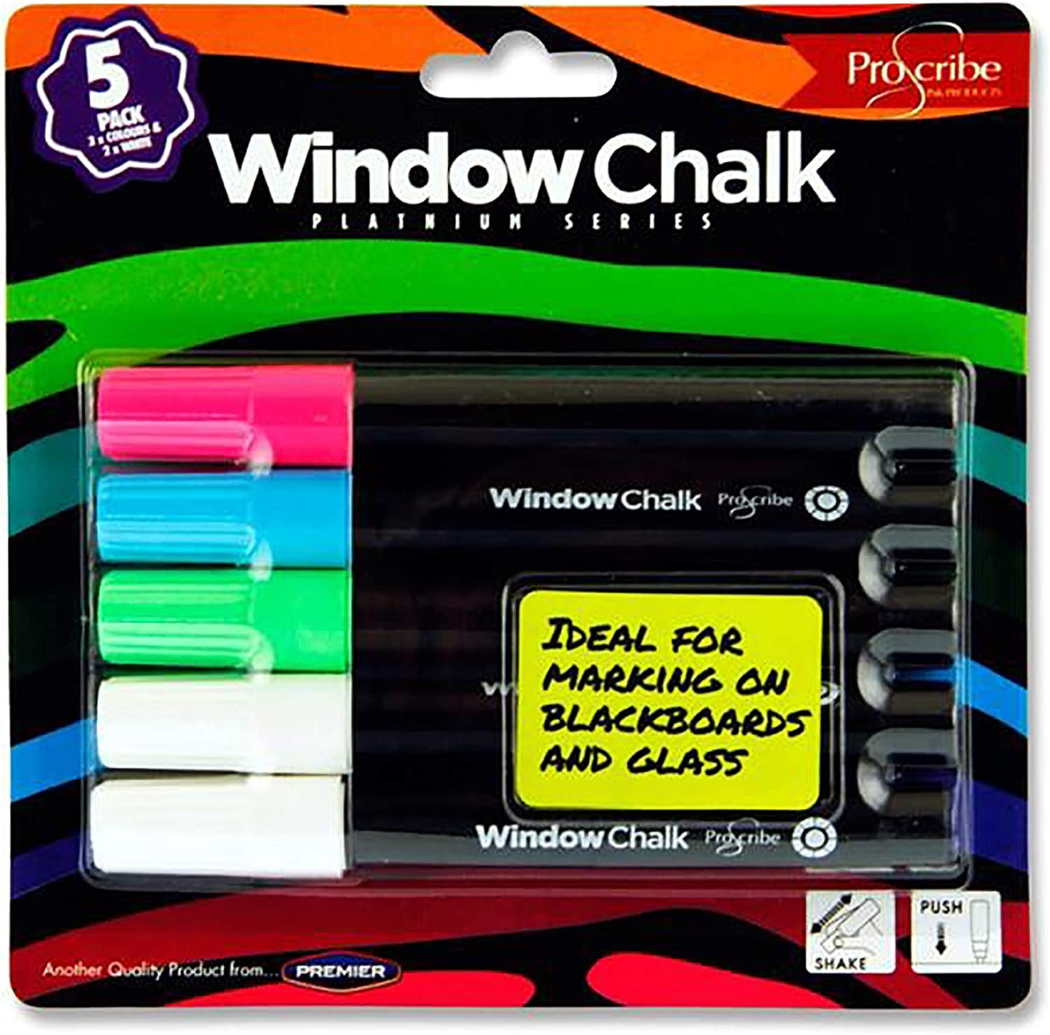Premier Max 42% OFF Stationery Pro: Scribe Window Directly managed store Co Markers. Assorted Chalk