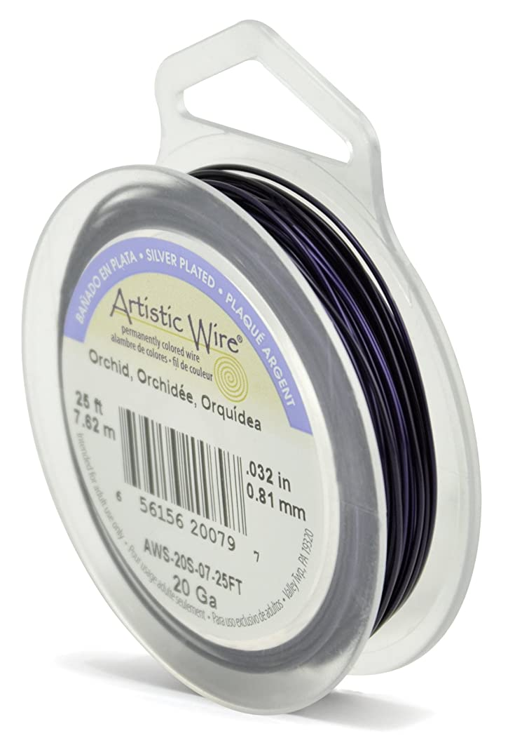 Beadalon Artistic Wire 20-Gauge Silver Plated Orchid Coil Wire, 25-Feet