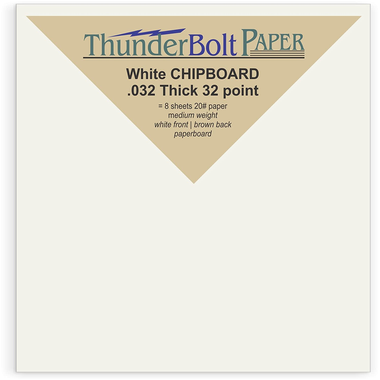 50 Sheets Chipboard 32pt white 1 side - 4