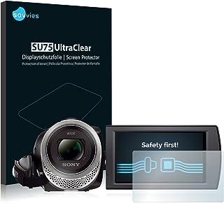savvies Protector Pantalla Compatible con Sony FDR-AX53 (6 Unidades) Pelicula Ultra Transparente