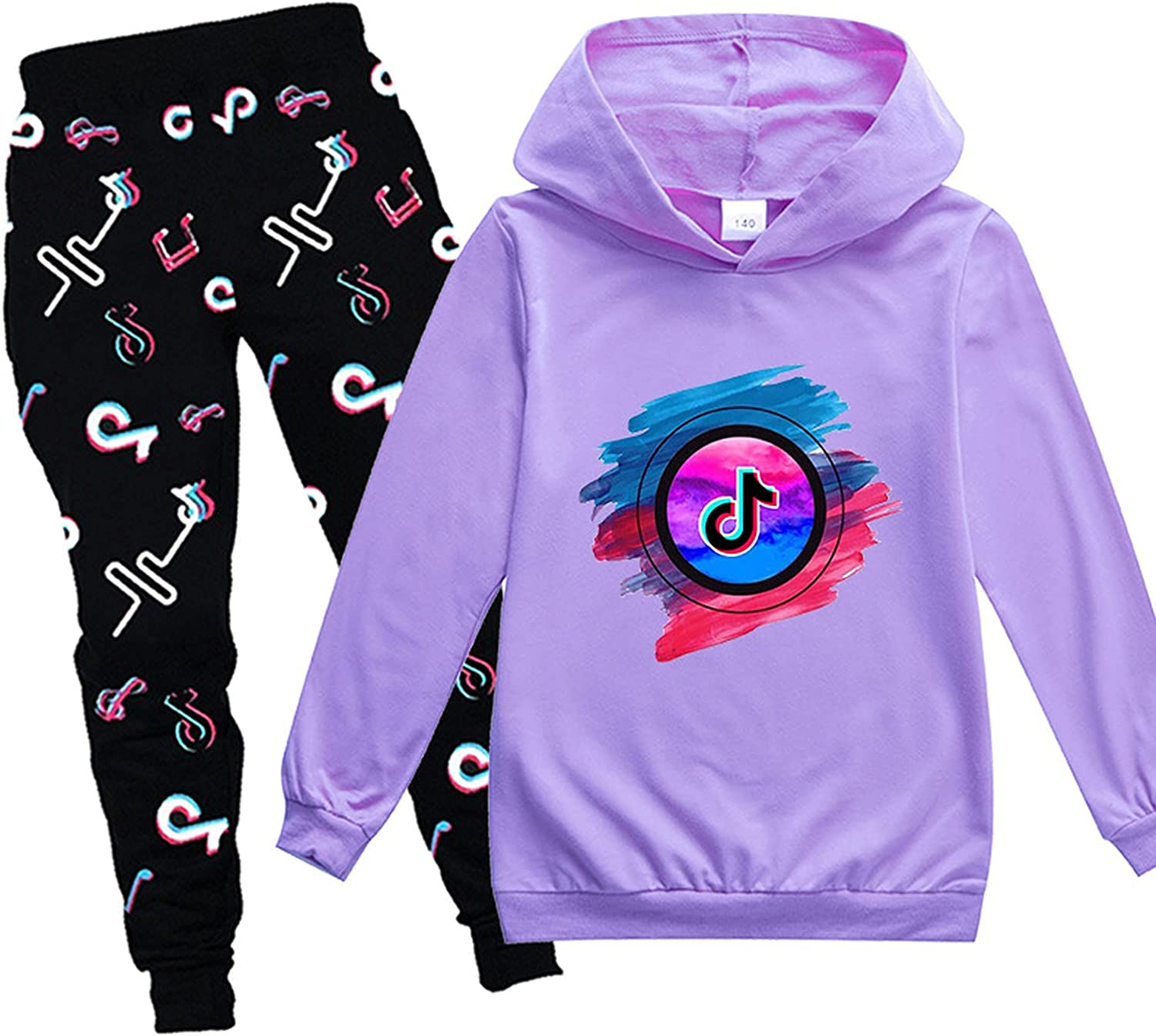 Two-Piece Jogging Sweatshirt Children's Hoodie Set Boys And Girls Pullover And Sweatpants Suit