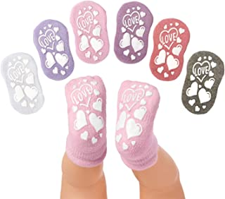 Anole Newborn & Infant Baby Socks - 6 Pairs - Ankle Girls Boys with Soft Cotton Cushion