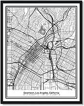 Susie Arts 11X14 Unframed Los Angeles California Metropolitan City View Abstract Street Map Art Print Poster Wall Decor V221