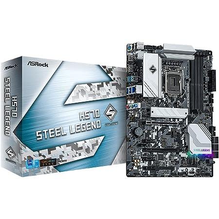 ASRock マザーボード H570 Steel Legend Intel 10世代 ・ 11世代 CPU ( LGA1200 ) 対応 H570 ATX マザーボード 【国内正規代理店品】