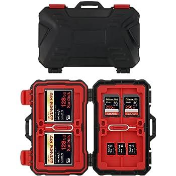 Philonext Étuis pour CartesMémoire CF/SD/TF 24 Fentes Étanche Boîte de Rangement de Cartespour Protection et Antichoc 12 Cartes Micro SD 8 Cartes SD et 4 Cartes CF
