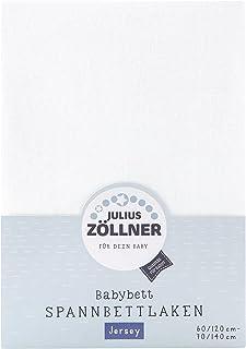 Julius Zöllner Julius Zöllner 8320113100- Spannbetttuch Jersey für das Kinderbett, Größe: 60x120 / 70x140 cm, Farbe: weiß