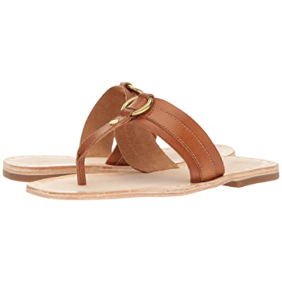 Frye Avery Harness Thong (Tan Smooth Full Grain) Women