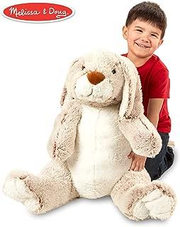 Melissa & Doug Jumbo Burrow Bunny Rabbit Stuffed Animal (21