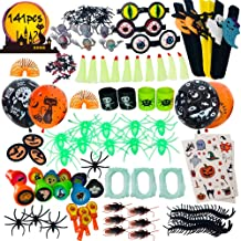 141pc Halloween Toys Party Favors Toy Assortment for Kids Bulk Toys,Classroom Rewards, Trick or Treating, Goodie Bags, Fools Toys Gift Box