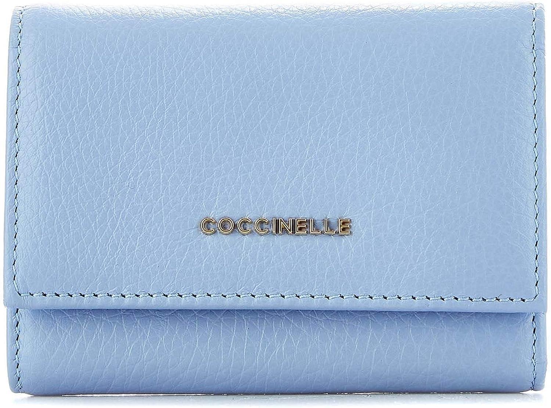 Coccinelle Women's DW5111001B05 Light bluee Leather Wallet
