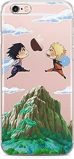 Anime Naruto vs Sasuke Cell Phone Cover Case for Apple Manga Fight Uzumaki Uchiha Sharingan iPhone Art Design Silicone Durable Protective Clear Skin Cover Case for (iPhone 5/5S/SE)
