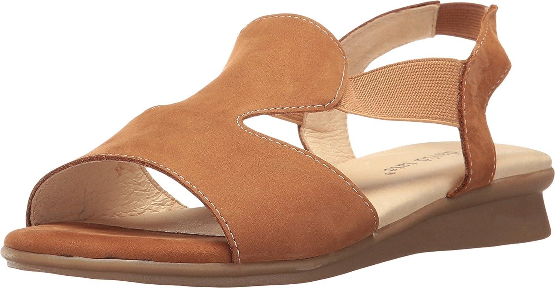 David Tate Womens Ash Leather Open Toe Casual Slingback Sandals