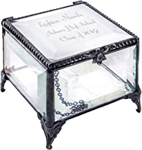 Personalized Graduation Gift for Her Glass Jewelry Box Engraved Keepsake High School Graduate Or College Grad Class of 2019 Daughter Granddaughter Girl Friend J Devlin Box 326 EB217-3 (Clear Beveled)