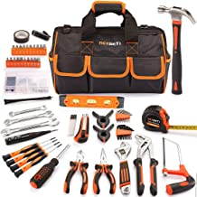 REXBETI 169-Piece Premium Tool Kit with 16 inch Tool Bag, Steel Home Repairing Tool Set,..