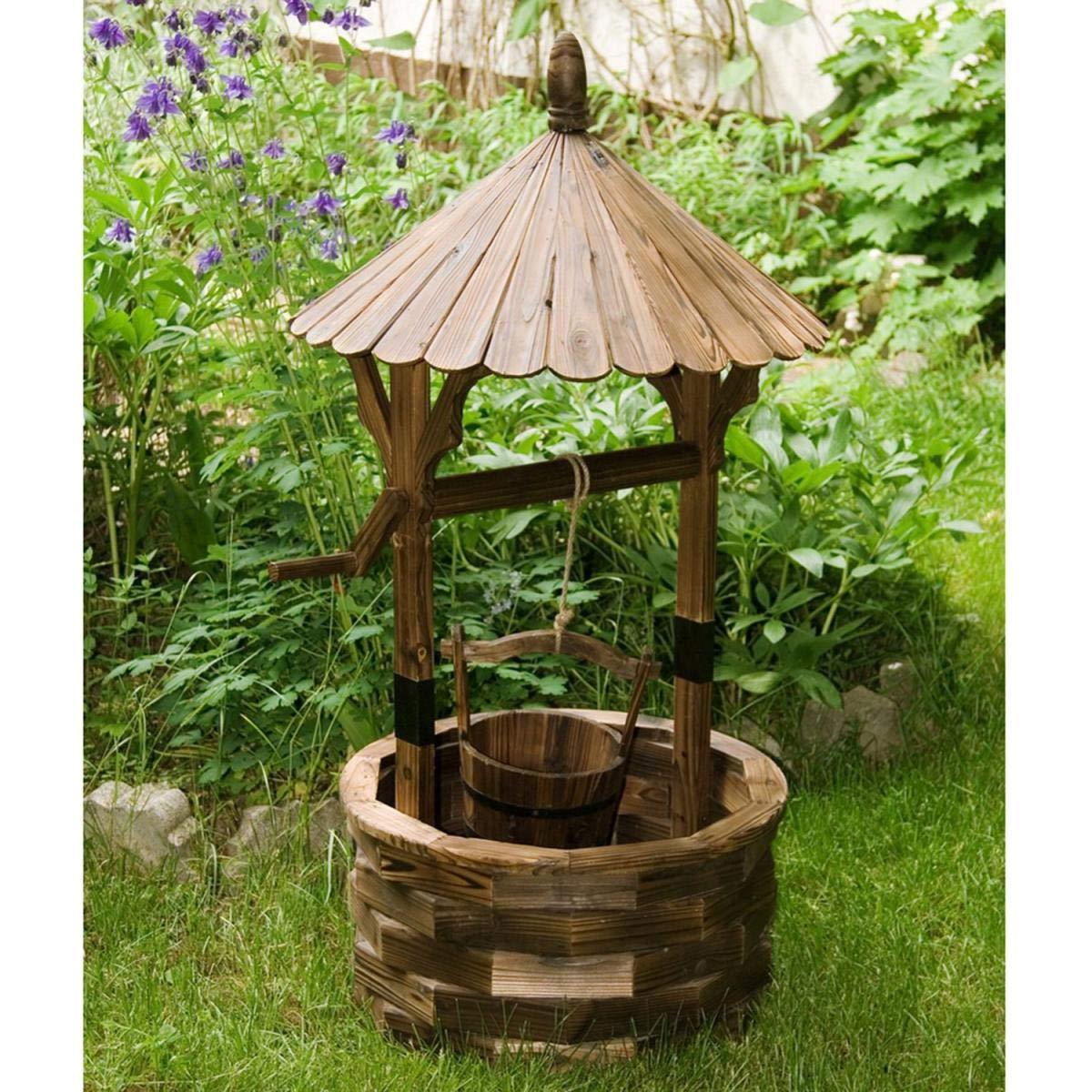 Maxstore - Fuente de jardín STILISTA® para pozos de madera, altura 120 cm: Amazon.es: Jardín