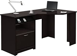 Bush Furniture Cabot 60W Corner Desk, Espresso Oak