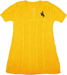 Creative Knitwear University of Wyoming Cowboys Baby and Toddler Sweater Dress