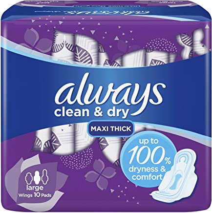 AlwaysMesh Maxi Thick, Large sanitary pads, 10 ct