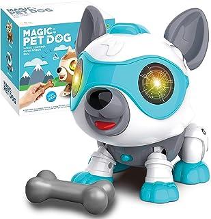 aovowog Speelgoed Robot Hond voor 3 Jaar Oude Jongens Meisjes,Slimme Interactieve Puppy Elektronische Huisdier Hond met To...