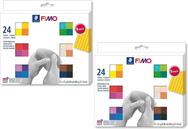 Staedtler FIMO Soft Colour Pack 48 x 25g 25g 25g 24 Farben Doppelpack B07FQH1D8F | Viele Sorten  03d093